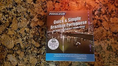 Brazilian Portuguese Pimsleur Quick & Simple Brasilian 4 Cd Fast Learn Lesson!