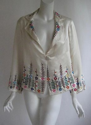 amazing vintage 1920s hand embroidered art deco silk  flapper gatsby jacket
