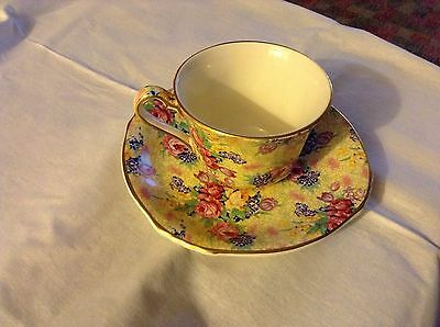 Royal Winton Welbech Grimwades Cup & Saucer , Yellow Chintz
