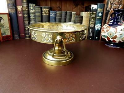 Late 19th c Art Nouveau Brass Rose Bowl With Glass Liner