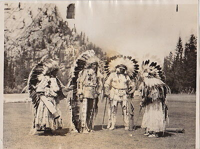 Native-Canadian INDIAN CHIEFS Playing GOLF Vintage Classic 1927 press photo