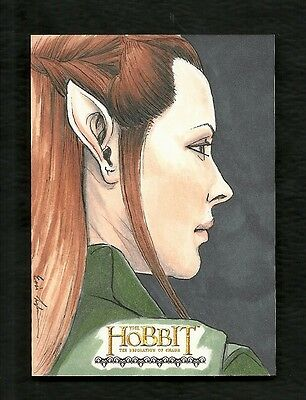 2015 The Hobbit Desolation of Smaug 1/1 Fine Art Sketch by Artist Eric Lehtonen