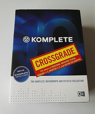 Rare Native Instruments Komplete 10 Crossgrade Boxed Music Editing Professional