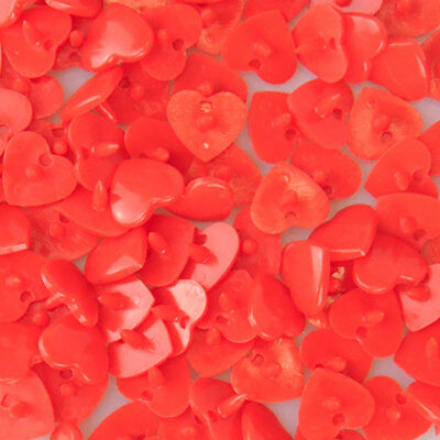 Heart Kam Snaps - Size 20 - B01 Bright Red - 25 Sets