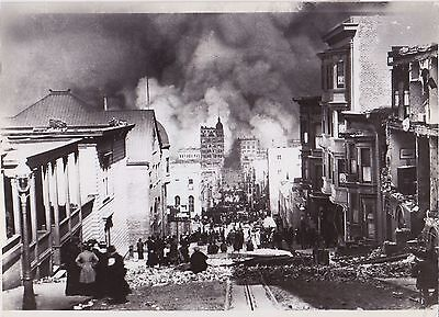 Arnold Genthe San Francisco Fire CLASSIC ICONIC 1906 press photo * Excellent