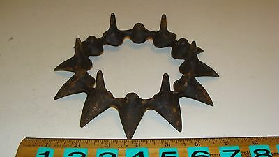 Antique Vintage Cast Iron Cookstove Cook Stove Burner Ring Trivet