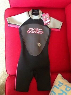 Brand New No Fear Pink Shorty wetsuit for 7-8 years.