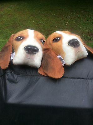 Holiday Special Basset Hound/ Beagle Expressions Plush Pillows Deal New Cute!!!