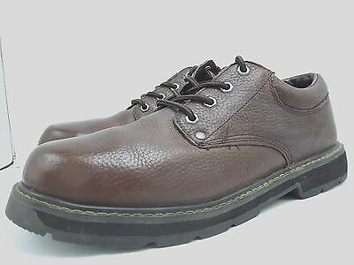 Walking Company Mens Harrington Brown Leather Lace Up Walking Casual Shoes Size