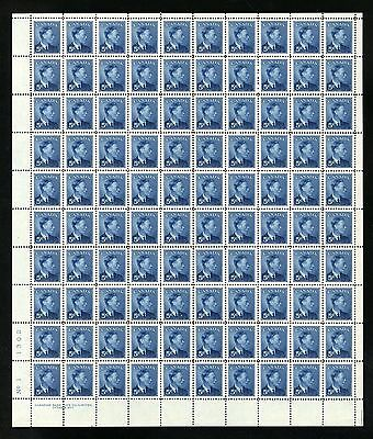 CANADA SHEET - Scott 293 - NH - LL Plate 1 - 5¢ Blue Postage Omitted (.031)