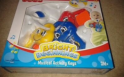 bright beginnings musical activity keys. baby toddler toy