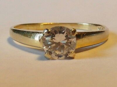 18ct Gold 0.50ct Diamond Solitaire Ring Size O