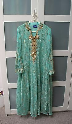 Pakistani Asian Wedding Bridal mehndi Party Eid Dress Anarkali Gown