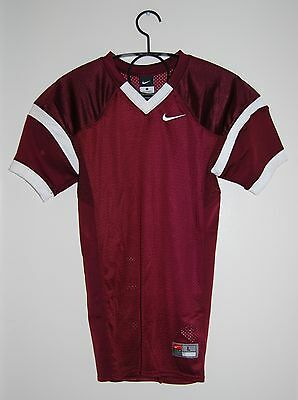 NWT Nike YOUTH Stock Open Field Maroon Mesh Football Practice Jersey, sz Large