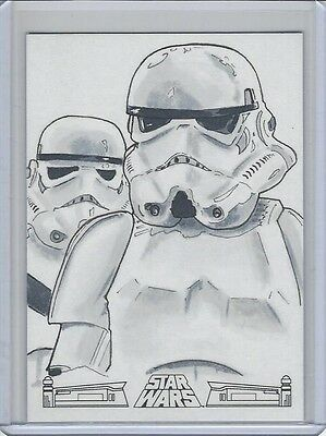 Star Wars 40Th Anniversary Sketch Card Ben Abusaada 1/1