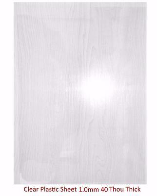 Plasticard - 1.0mm (40/Thou) Clear Plastic Sheet (Approx A4 Size)