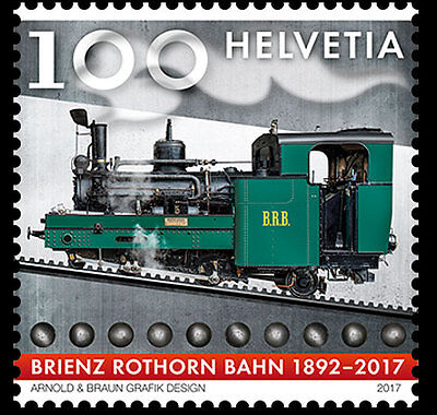 Switzerland 2017 suisse Brienz railway train Eisenbahn  Trenes Treni 1v mnh **