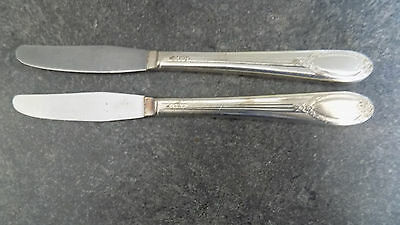 2 Garland Silver Plate Dinner Knives, Rogers & Bros1937