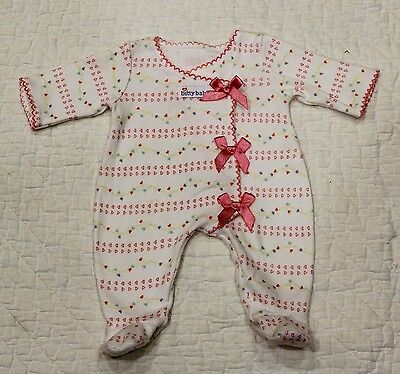 American Girl BITTY BABY or Twin Pink Bow hearts SLEEPER retired