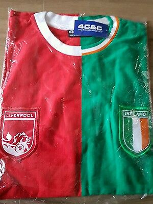 A New Liverpool  Football Club And Ireland  T Shirt Size Xl