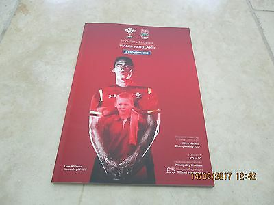 Wales v  England Saturday 11th February 2017 Match Programme RBS 6 Nations