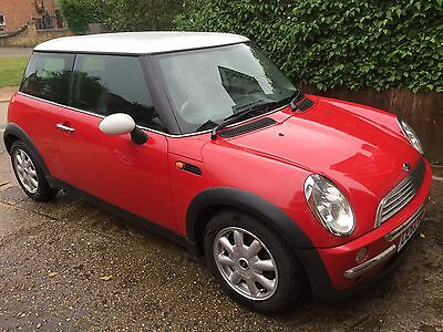 2002 Mini Cooper 3 Door Hatchback 1.6 Manual Red MOT 11/2017