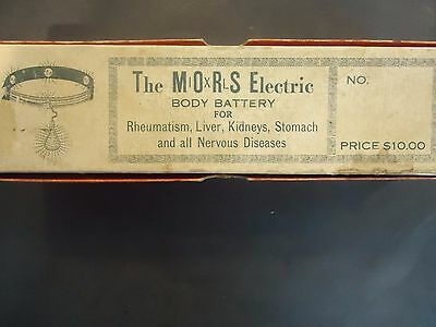 1900-20 MORS IXL Electric Body Battery Quack Medicine Healing Device in Box
