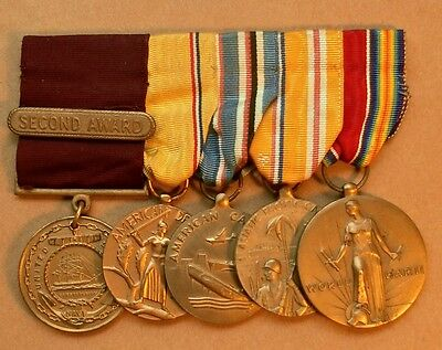 Named WWII US Navy Mounted  Medal Group - Good Conduct, Pacific Veteran