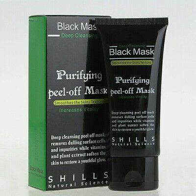 Black Mask shills masque anti acné, points noirs au charbon 50ml