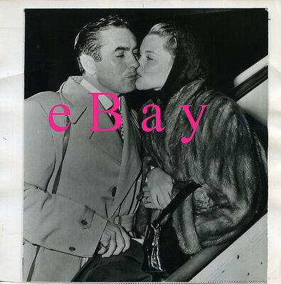 Tyrone Power & Linda Christian - Three (3)  BW Vintage Photos