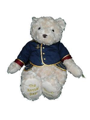 "Harrods 2015 The Annual Bear Charles Clay Musician Plush Teddy 15"" Blue Jacket"