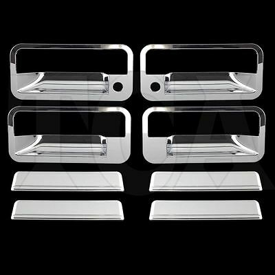 For 1992-1999 Chevy Chevrolet Suburban Chrome 4 Door Handle Covers W/ Psg Kh