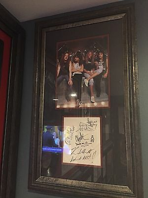 Metallica Signed And custom framed piece with Cliff Burton
