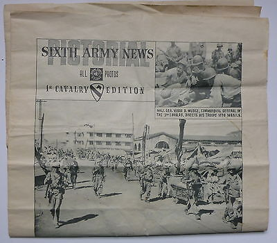 1945, Sixth Army News, 1st Cavalry Edition - Pictorial -  Manila and Beyond