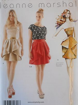 Simplicity Sewing Pattern-Misses' STRAPLESS DRESS-SKIRT-TOP-Sizes: 4-12-UNCUT