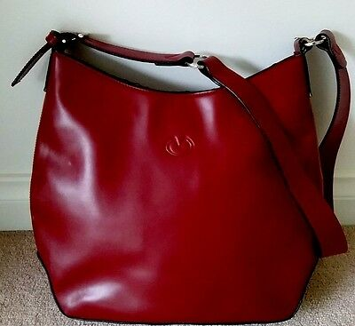 Women's Burgandy Red Faux Leather 'milleni' Shoulder Bag As New
