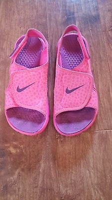 Nike Youth Girls Kids Sunray Adjust Water Athletic Sandal Pink/purple Size 3Y