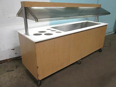 """duke"" H.d. Commercial Lighted Refrigerated 92""w Cold Food Buffet / Salad Bar"