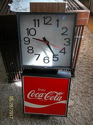 1978 Coca-Cola Wall Clock Tested Works!! Lites Up
