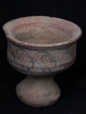 Ancient Teracotta Painted Chalice With Animals Indus Valley 2500 BC  #PT15515