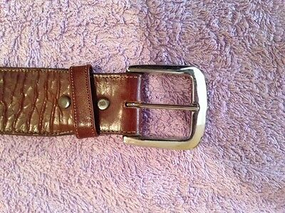 Luccese western leather belt size 38 chrome changeagle buckle
