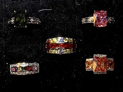 Sterling Silver 925 Stamped Fashion Jewelry Ladies 5 Rings Size 9-10