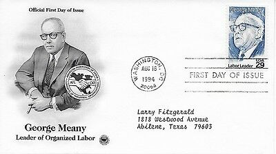 Scott #2848 - George Meany FDC