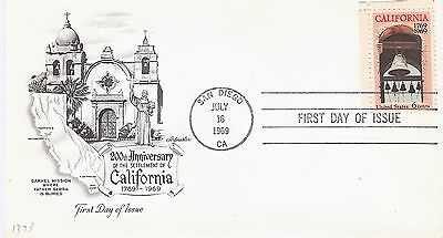 Scott #1373 - 200th Ann. of California FDC -Artmaster