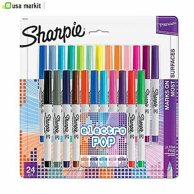 new sharpie limited edition 24-pk electro Pop Ultra fine tip permanent markers