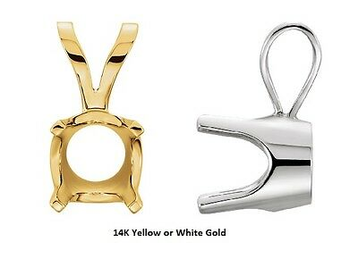 14k solid white or yellow gold classic low base 4 prong pendant 14k solid white or yellow gold classic low base 4 prong pendant settings aloadofball Images