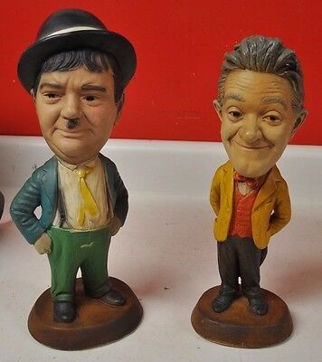 LAUREL AND HARDY, Legends of Comedy Figurines, ESCO Chalk Statues Nice Condition