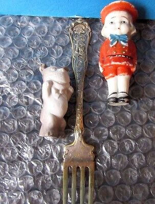 Buster Brown Tige dolls and fork