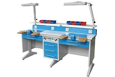 EM-LT6- 2 Person Workstation Bench for Laboratory W/Dust Collector Dental Table