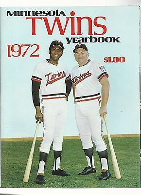 Original 1972  Minnesota TwinsYearbook -   - Ex  condition